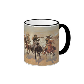 Vintage Cowboys, A Dash For Timber by Remington Ringer Coffee Mug