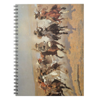 Vintage Cowboys, A Dash For Timber by Remington Spiral Notebook