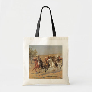 Vintage Cowboys, A Dash For Timber by Remington Tote Bag