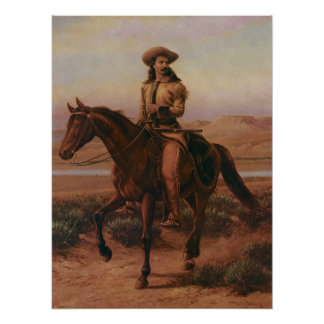 Vintage Cowboys, Buffalo Bill on Charlie by Cary Poster