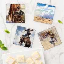 Vintage Cowboys by NC Wyeth Coaster Set