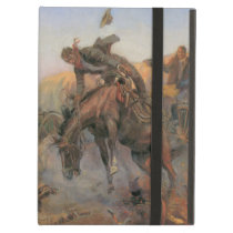 Vintage Cowboys, Camp Cook's Trouble by CM Russell iPad Air Case