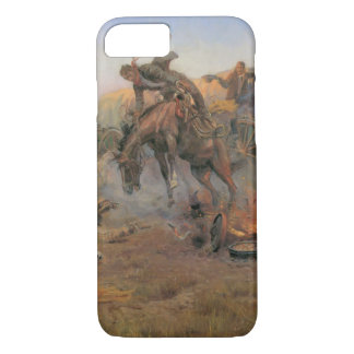 Vintage Cowboys, Camp Cook's Trouble by CM Russell iPhone 8/7 Case
