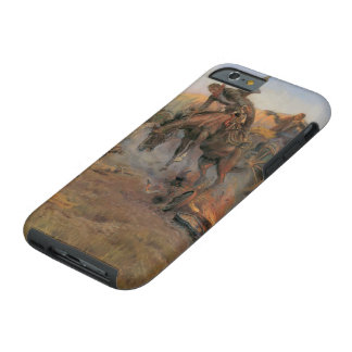 Vintage Cowboys, Camp Cook's Trouble by CM Russell Tough iPhone 6 Case