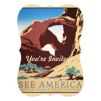 Vintage Cowboys Desert Rock Canyon Arch See Americ Card