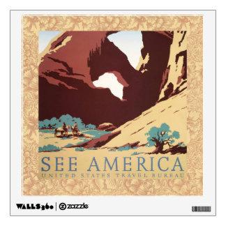 Vintage Cowboys Desert Rock Canyon Arch See Americ Wall Decor