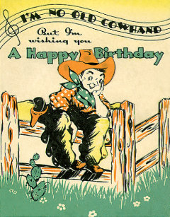 Vintage Cowboys Happy Birthday Old Cowhand Music Classic Round Sticker