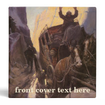 Vintage Cowboys, Hold Up in the Canyon by NC Wyeth 3 Ring Binder