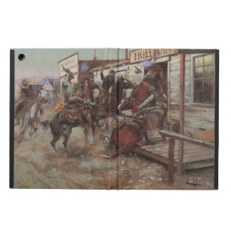 Vintage Cowboys, In Without Knocking by CM Russell Cover For iPad Air