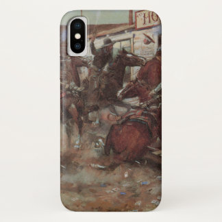 Vintage Cowboys, In Without Knocking by CM Russell iPhone X Case