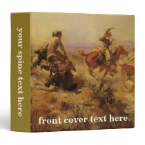 Vintage Cowboys, Jerked Down by CM Russell 3 Ring Binder