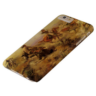 Vintage Cowboys, Jerked Down by CM Russell Barely There iPhone 6 Plus Case