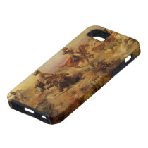 Vintage Cowboys, Jerked Down by CM Russell iPhone SE/5/5s Case