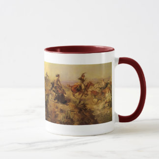 Vintage Cowboys, Jerked Down by CM Russell Mug