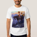 Vintage Cowboys, Man and Woman on Horses, Anderson Shirts