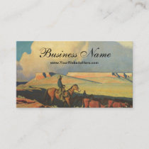 Vintage Cowboys, Open Range by Maynard Dixon Business Card