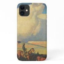 Vintage Cowboys, Open Range by Maynard Dixon iPhone 11 Case