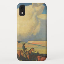 Vintage Cowboys, Open Range by Maynard Dixon iPhone XR Case