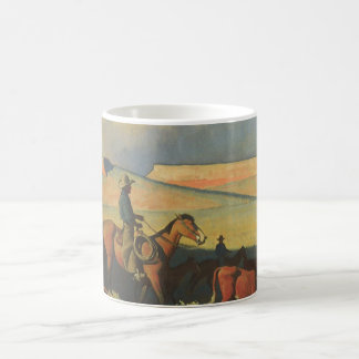 Vintage Cowboys, Open Range by Maynard Dixon Coffee Mug