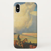Vintage Cowboys, Open Range by Maynard Dixon iPhone X Case
