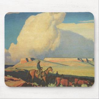Vintage Cowboys, Open Range by Maynard Dixon Mouse Pad