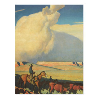 Vintage Cowboys, Open Range by Maynard Dixon Postcard