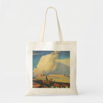 Vintage Cowboys, Open Range by Maynard Dixon Tote Bag