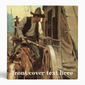 Vintage Cowboys, The Admirable Outlaw by NC Wyeth 3 Ring Binder