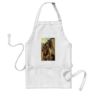 Vintage Cowboys, The Admirable Outlaw by NC Wyeth Adult Apron