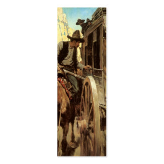 Vintage Cowboys, The Admirable Outlaw by NC Wyeth Double-Sided Mini Business Cards (Pack Of 20)