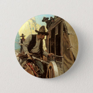 Vintage Cowboys, The Admirable Outlaw by NC Wyeth Button