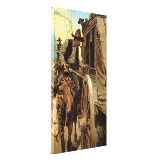 Vintage Cowboys, The Admirable Outlaw by NC Wyeth Canvas Print