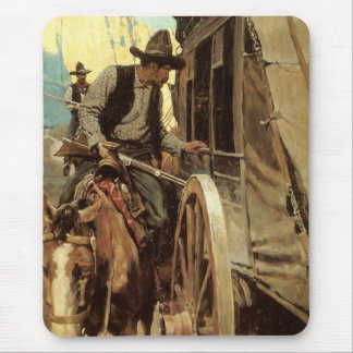Vintage Cowboys, The Admirable Outlaw by NC Wyeth Mouse Pad