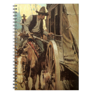 Vintage Cowboys, The Admirable Outlaw by NC Wyeth Notebook