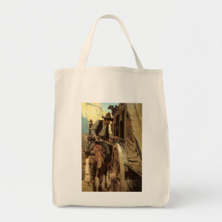Vintage Cowboys, The Admirable Outlaw by NC Wyeth Tote Bag