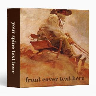 Vintage Cowboys, The Ore Wagon by NC Wyeth Binder