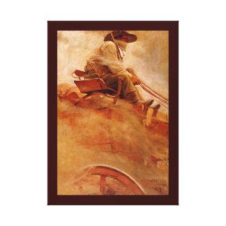 Vintage Cowboys, The Ore Wagon by NC Wyeth Canvas Print
