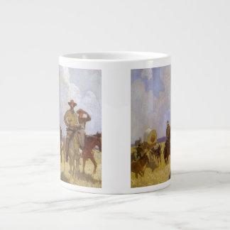 Vintage Cowboys, The Parkman Outfit by NC Wyeth 20 Oz Large Ceramic Coffee Mug