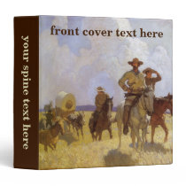 Vintage Cowboys, The Parkman Outfit by NC Wyeth 3 Ring Binder