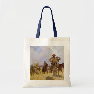 Vintage Cowboys, The Parkman Outfit by NC Wyeth Budget Tote Bag