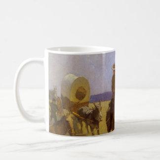 Vintage Cowboys, The Parkman Outfit by NC Wyeth Classic White Coffee Mug