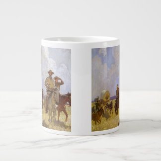 Vintage Cowboys, The Parkman Outfit by NC Wyeth Giant Coffee Mug