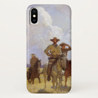 Vintage Cowboys, The Parkman Outfit by NC Wyeth iPhone X Case