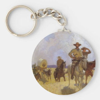 Vintage Cowboys, The Parkman Outfit by NC Wyeth Keychain