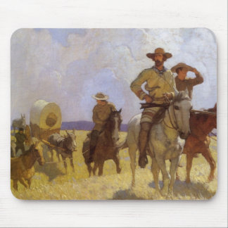 Vintage Cowboys, The Parkman Outfit by NC Wyeth Mouse Pad