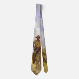 Vintage Cowboys, The Parkman Outfit by NC Wyeth Neck Tie