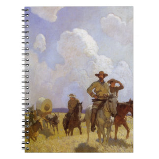 Vintage Cowboys, The Parkman Outfit by NC Wyeth Notebook