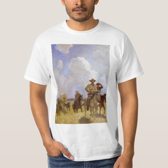Vintage Cowboys, The Parkman Outfit by NC Wyeth T-Shirt