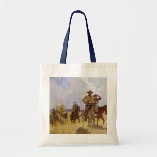 Vintage Cowboys, The Parkman Outfit by NC Wyeth Tote Bag