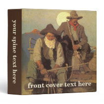 Vintage Cowboys, The Pay Stage by NC Wyeth Binder